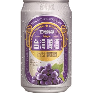 TTL Taiwan Red Grape Beer 330ml, Alc.2.8%
