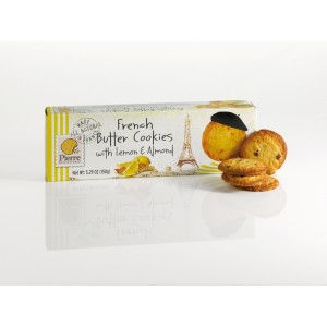 French Butter Cookies with Lemon & Almond 150g