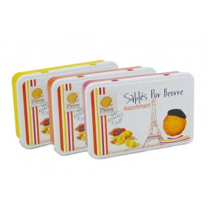 French Butter Cookies Tins Assortment 210g