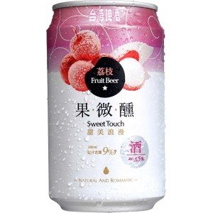 TTL Sweet Touch Lychee Fruit Beer 330ml, Alc.3.5%