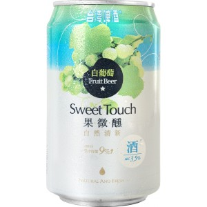 TTL Sweet Touch White Grape Fruit Beer 330ml, Alc.3.5%
