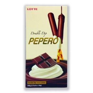 Lotte Pepero Double Dip Chocolate Big Pack