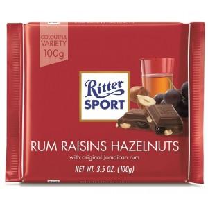 Ritter Sport Rum Raisins Hazelnuts 100g