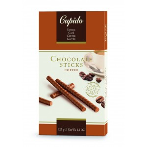 Cupido Chocolate Sticks Cafe 125g