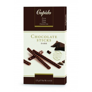 Cupido Chocolate Sticks Extra Dark 125g