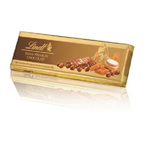 Lindt Gold Tablets Milk Caramel Hazelnut 300g