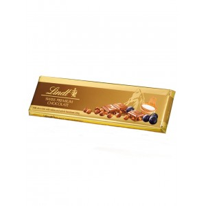 Lindt Gold Tablets Milk Raisin Hazelnuts 300g