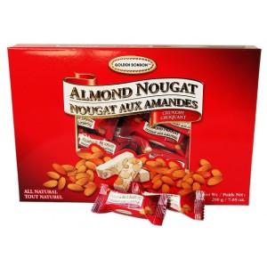 GBB Crunchy Almond Nougat - Red Box 200g