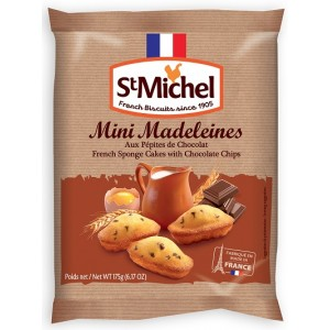 St Michel Traditional French Sponge Cakes with Choc Chips 175g