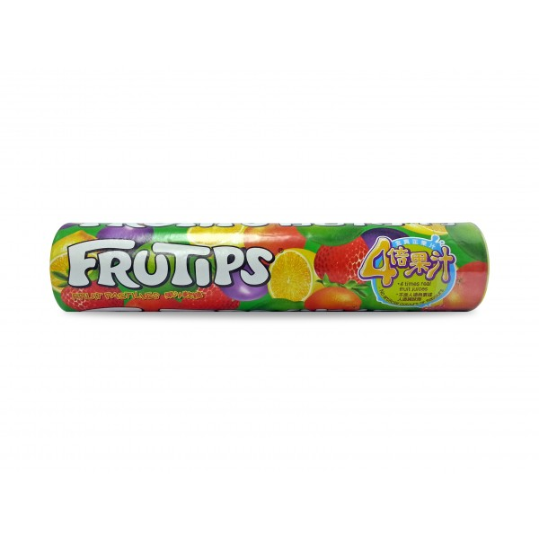 Frutips Fruit Pastilles Giant Tube 125g - Kaimay ... Smarties Box Design